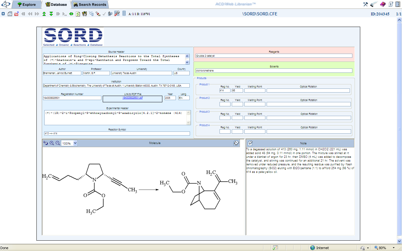 from online databases chemistry