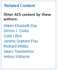Look for related content by the authors on JCIM